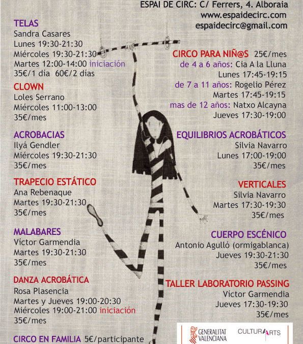 CURSOS REGULARES 2014-2015 en el ESPAI DE CIRC