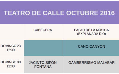 PROGRAMACIÓN TEATRO DE CALLE OCTUBRE 2016