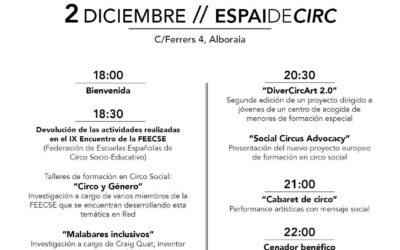 II JORNADA DE CIRCO SOCIAL del ESPAI DE CIRC – 2 DICIEMBRE