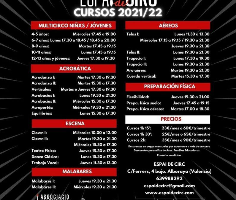 ABRIMOS PRE-INSCRIPCIONES CURSO 2021/22